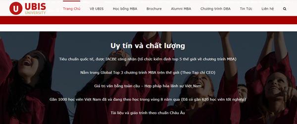 Chương trình MBA online của UBIS tại Việt Nam được nhiều học viên theo học.