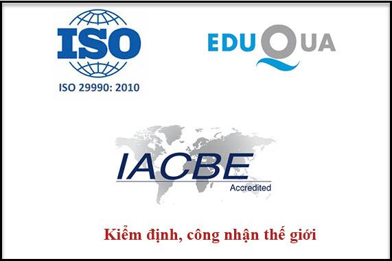 Chương trình đào tạo được công nhận bởi các tổ chức thế giới.